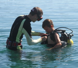Camp Crosley Intro to Scuba class
