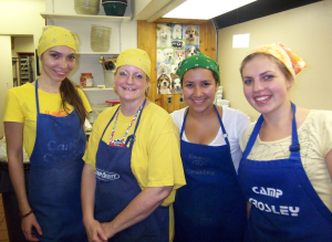 Camp Crosley summer kitchen staff