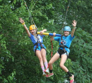 The Giant Swing at Camp Crosley is one of our most popular activities both with summer campers and groups year round.